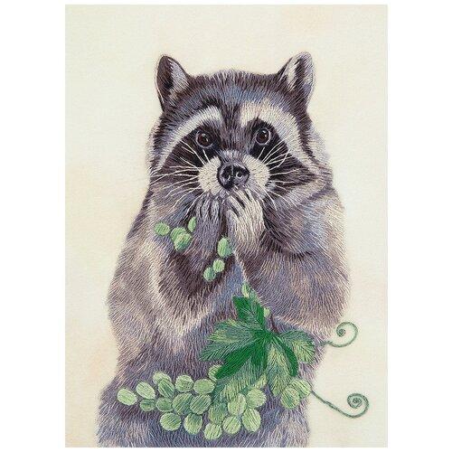 PANNA Набор для вышивания гладью Живая картина Лакомка 14 x 18.5 см (JK-2112)