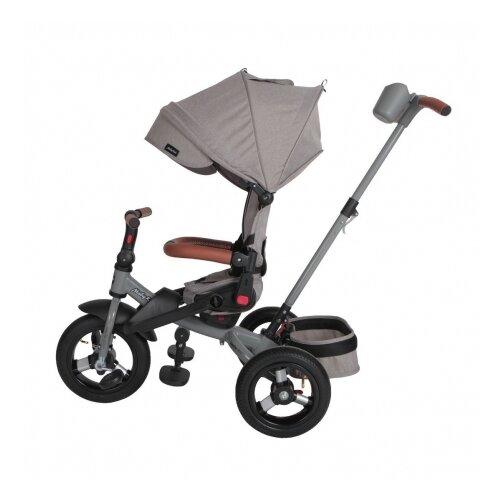 Велосипед Moby Kids 3кол. Leader 360°, 12x10 AIR, серый, элементы экокожи