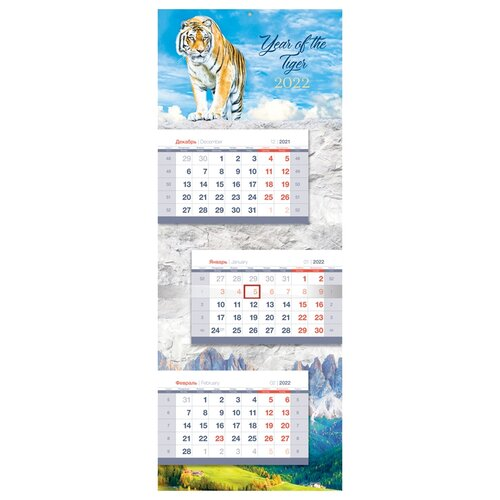 Купить Календарь квартальный настенный 2022 год Символ года , OfficeSpace, Календари