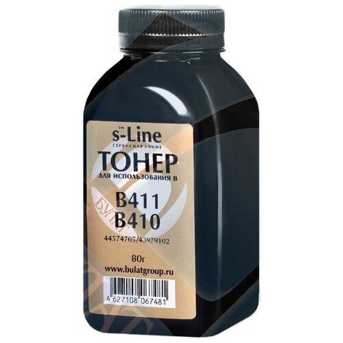 Фото - Заправочный тонер для OKI тип B411 / B410, 44574705 / 43979102 (Булат) 80 гр. тонер картридж булат s line 43865740 43865708 для oki c5650 чёрный 8000 стр универсальный