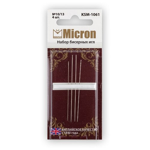 Купить Micron набор для вышивания бисером KSM-1061 в блистере 4 шт. 10/13, Иглы