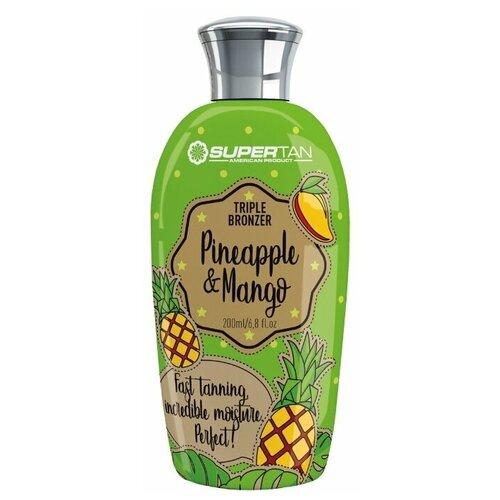 Крем для загара SuperTan Pineapple & Mango с бронзаторами DHA, 200 мл. крем для загара в солярии supertan lemongrass and orange с антицеллюлитным действием 15 мл