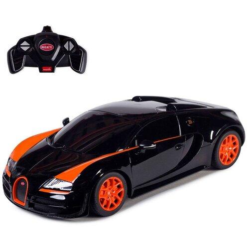 Фото - Машина р/у 1:18 Bugatti Veyron Grand Sport Vitesse гоночная машина rastar bugatti veyron grand sport vitesse 53900 1 18 черный