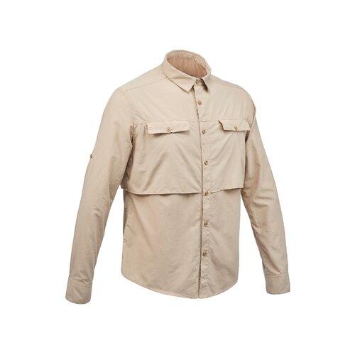 Мужская рубашка с длинными рукавами для треккинга в пустыне DESERT 500, размер: L, цвет: Капучино/Коричневый FORCLAZ Х Декатлон