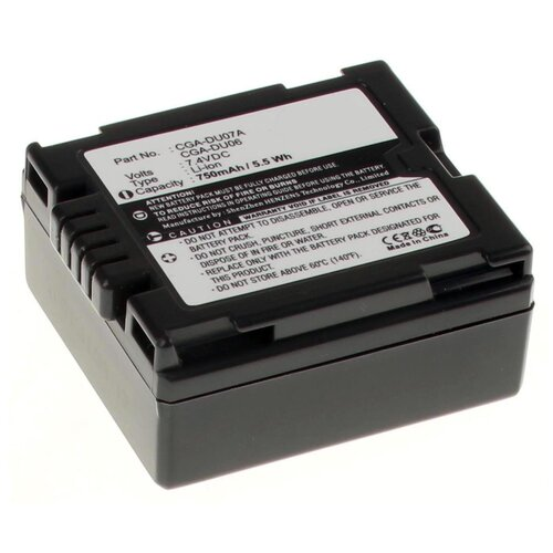 Аккумуляторная батарея iBatt 750mAh для Hitachi DZ-MV580E, DZ-MV550E, DZ-BX35E, DZ-GX5060SW, DZ-MV550, для Panasonic PV-GS180, PV-GS250, PV-GS500, VDR-D100