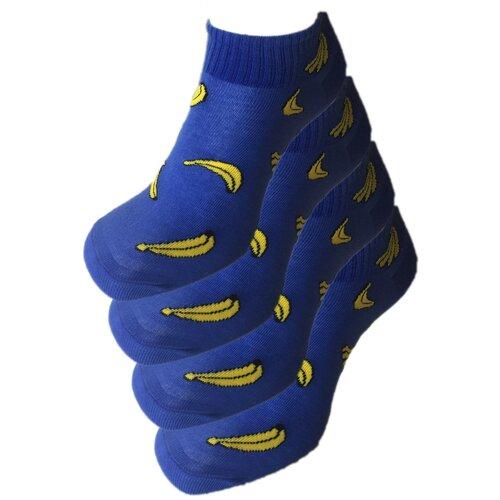 Носки женские укороченные Amigobs Бананы, 4 пары, размер 36-40, ассорти
