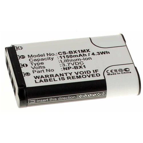 Аккумулятор iBatt iB-U1-F305 1150mAh для Sony Cyber-shot DSC-RX100, HDR-AS100V, Cyber-shot DSC-HX300, HDR-AS200V, Cyber-shot DSC-HX60, HDR-AS15, FDR-X1000V, Cyber-shot DSC-RX100M3, Cyber-shot DSC-HX50, HDR-AS30V,
