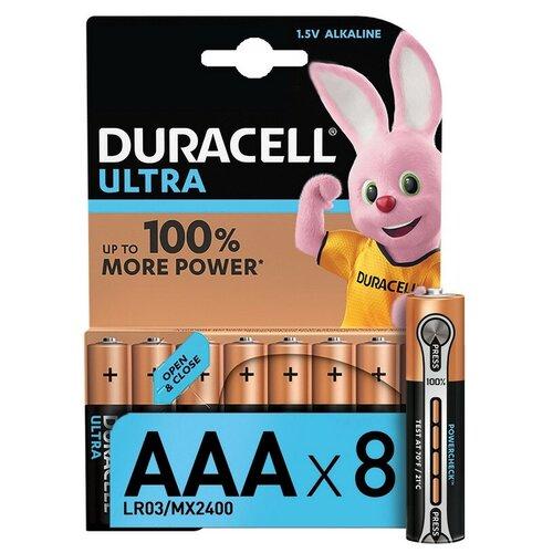 Фото - Батарейки DURACELL ULTRA AAA/LR03-8BL батарея duracell ultra power lr03 4bl aaa 4шт