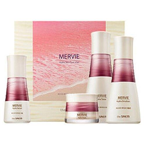 The Saem Набор для лица Mervie Hydra Skin Care 3 (тонер 150мл + эмульсия 130мл + крем 60мл + сыворотка 50мл)