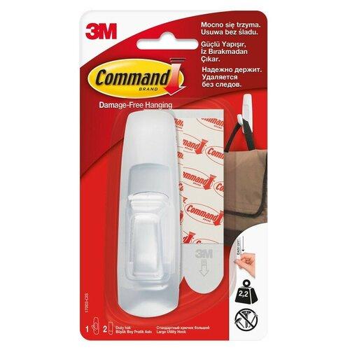 Крючок Command белый 2,25 кг, 1 шт/2 полоски (17003-CIS) 2 шт.