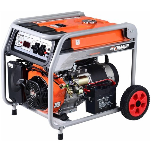 Генератор бензиновый TOR KM4800H 3,3кВт 220В 16л с кнопкой запуска и колесами