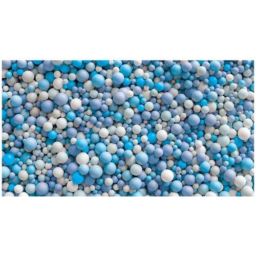 Фотообои 3D шары голубых и мятных тонов цвета/ Красивые уютные обои на стену в интерьер комнаты/ 3Д расширяющие пространство над кроватью или над столом/ На кухню в спальню детскую зал гостиную прихожую/ размер 500х270см/ Флизелиновые