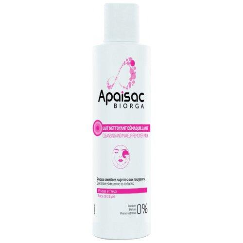 Biorga Очищающее молочко для снятия макияжа Apaisac Lait Nettoyant Demaquillant 200мл