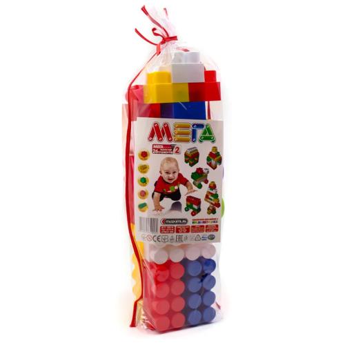 Конструктор детский большие блоки разноцветный 26 элемента MAXIMUS Мега мастер / конструктор для мальчиков / развивающие игрушки / конструкторы для девочек / конструкторы для мальчиков / конструктор для девочек / детский конструктор