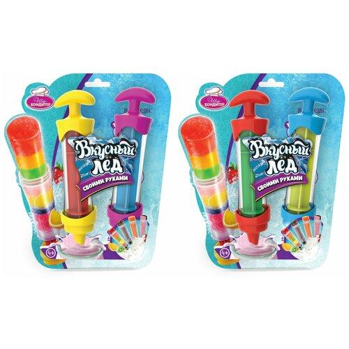 Набор для создания мороженого 1Toy Шеф-кондитер, Вкусный лед, 2 шприца 20*23,5*5 см (Т16449)
