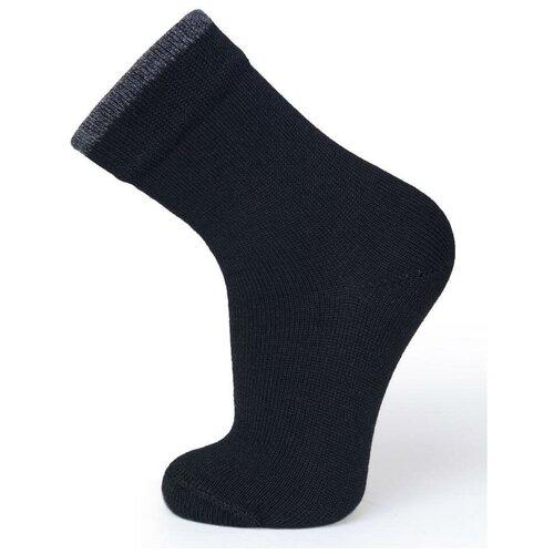Термоноски детские для мембранной обуви серии DRY FEET, цвет черный с серой полосой, размер 35-38