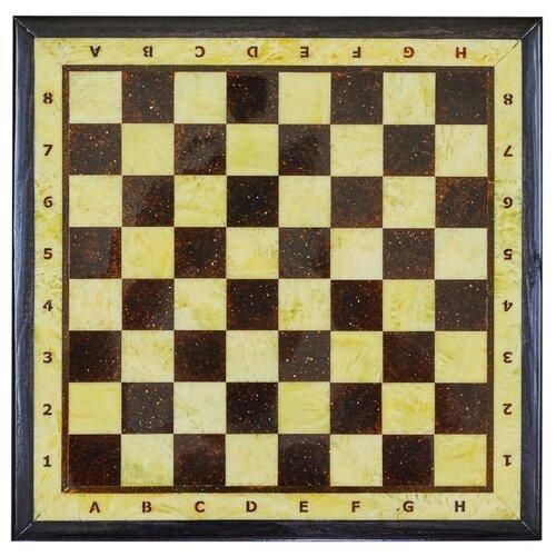 Amber-регион Шахматная доска малая с рамкой из янтаря