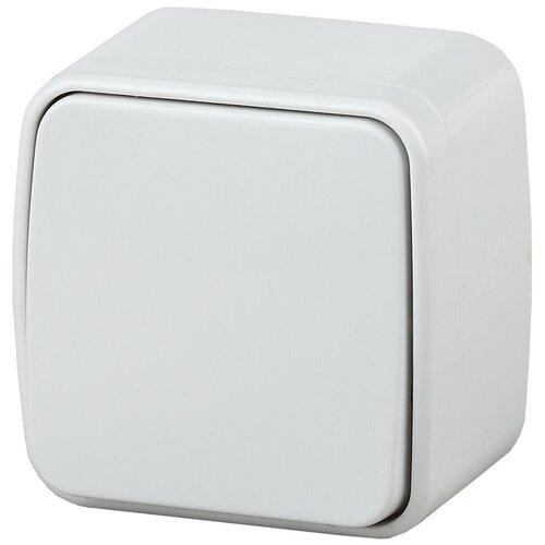 Intro 3-101-01 Intro Выключатель, 10А-250В, IP20, ОУ, Polo, белый (18/360/4320)