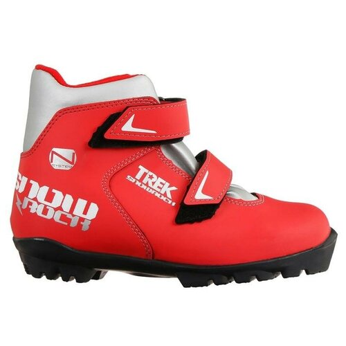 Trek Ботинки лыжные TREK Snowrock 3 NNN ИК (красный, лого серебро) (р.34)