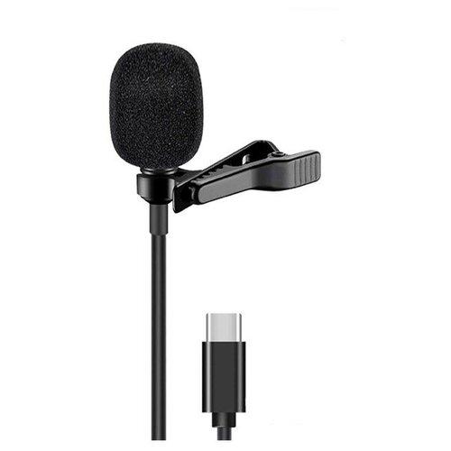 Микрофон CANDC DC-C4, петличный, Type-C+AUX, 6 м, черный