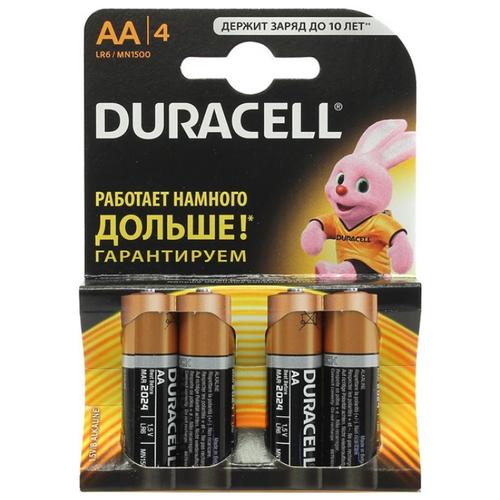 Фото - Батарейки Duracell AA пальчиковые батарейки duracell activeair nugget box za675 da675 6bl
