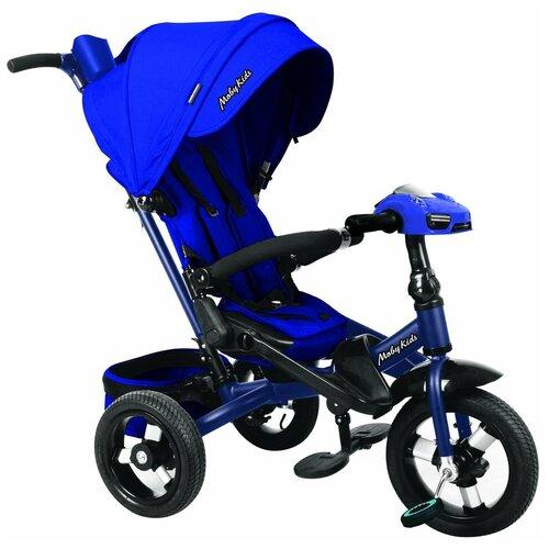 Трехколесный велосипед Moby Kids New Leader 360° 12x10 AIR Car, синий