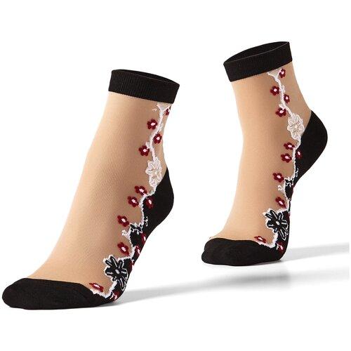 Носки с вышивкой Mersada (черный; бежевый; белый) 36-41