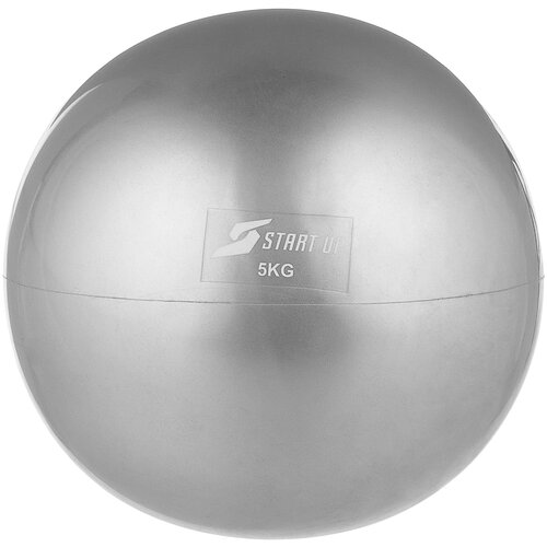 Медбол START UP NT40510, 5 кг серый мяч start up e5126 5 yellow violet