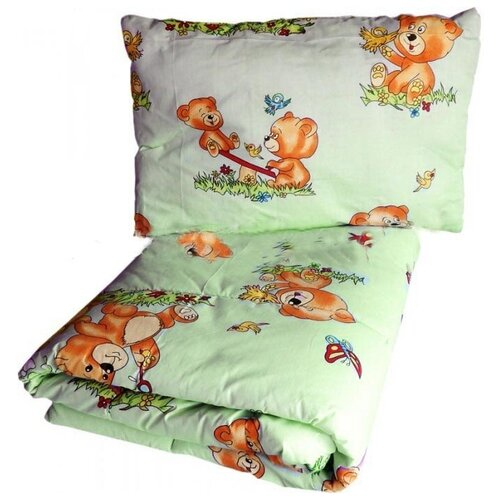 Купить Набор Папитто (цвет: салатовый, одеяло + подушка), Покрывала, подушки, одеяла