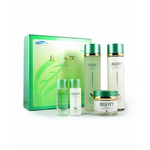 Купить Набор средств для ухода за кожей лица С экстрактом зелёного ЧАЯ JIGOTT Well-Being Green tea Skin care 3 Set