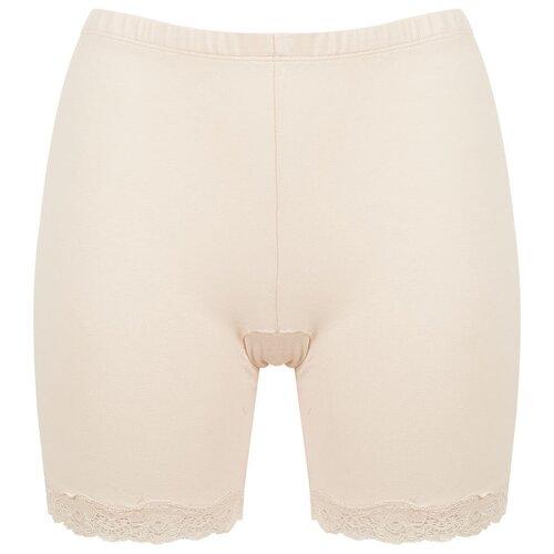 Vis-a-Vis Трусы Панталоны с широкой кружевной резинкой по ножке, размер L, beige