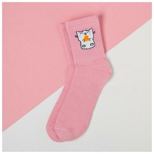 Носки Kaftan Котик 5404322, размер 23-25 см (37-39), розовый