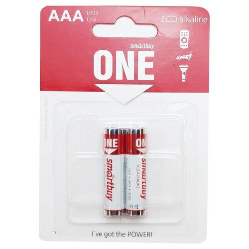 Фото - Батарейка SmartBuy One Eco Alkaline AAA, 2 шт. батарейка smartbuy one eco alkaline aa 40 шт