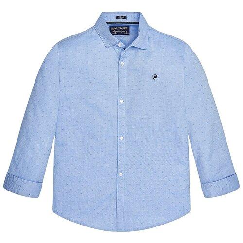 Фото - Рубашка Mayoral размер 157, голубой жилет mayoral размер 9m 74 голубой