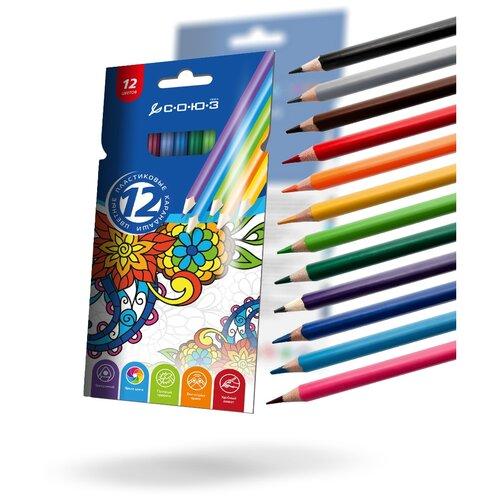 Купить Союз Цветные карандаши Орнамент, 12 цветов (CNB3KZ-12)