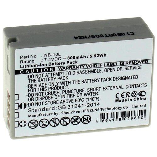 Фото - Аккумулятор iBatt iB-U1-F131 850mAh для Canon PowerShot G1 X, PowerShot SX50 HS, PowerShot SX60 HS, PowerShot SX40 HS, PowerShot G15 canon powershot sx740 черный