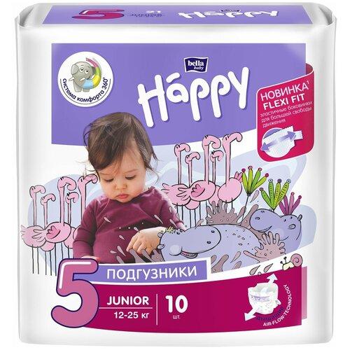 Bella Baby happy подгузники Junior 5 (12-25 кг), 10 шт.