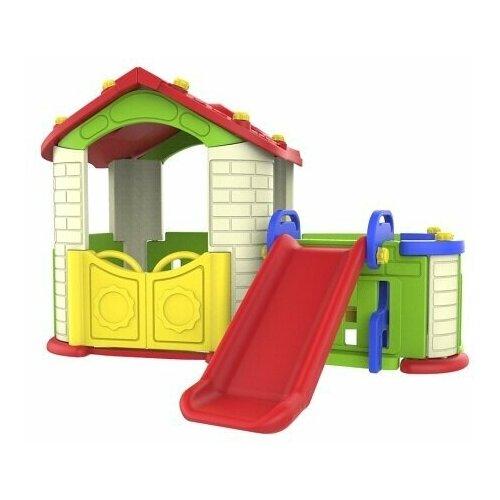 Купить Игровой домик с забором и горкой, цвет Ивори CHD-803, Toy Monarch, Игровые домики и палатки