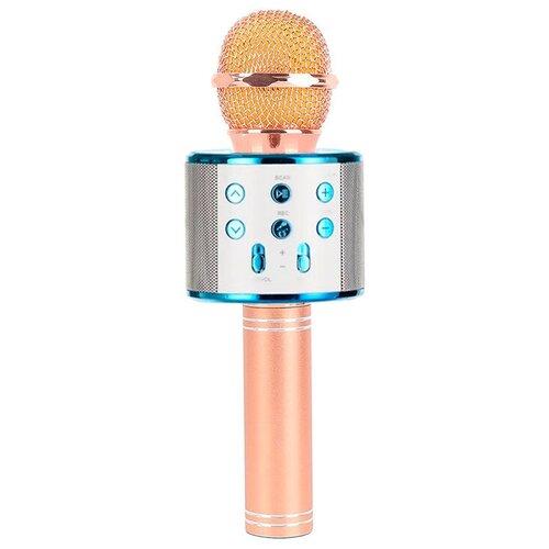 Беспроводной караоке-микрофон WS-858 (гламурно черный)