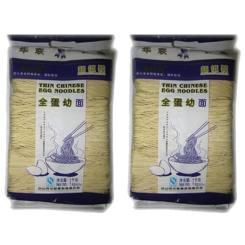 Китайская яичная лапша Mai A Yi (2 шт. по 1 кг)