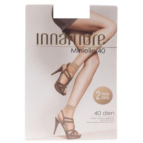 Капроновые носки Innamore Minielle 40 den, 2 пары, размер UNI, miele