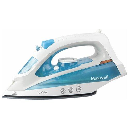 Утюг Maxwell MW-3055 B белый/голубой