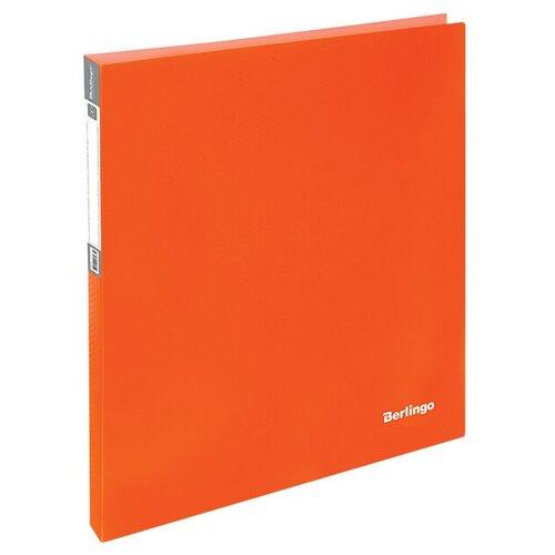 Фото - Berlingo Папка на 2-х кольцах Neon A4, 25 мм, 700 мкм, пластик неоновый оранжевый berlingo папка с 20 вкладышами neon a4 14 мм 700 мкм пластик зеленый