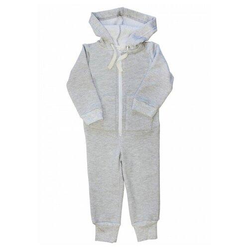 Комбинезон Веселый Малыш 351/140, размер 98, серый