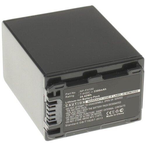 Аккумулятор iBatt iB-U1-F324 3300mAh для Sony DCR-SR62, DCR-SR300, HDR-HC7, HDR-UX5, DCR-SR100, HDR-UX7, DCR-SR45, HDR-SR11E, DCR-SR65, HDR-SR10E, DCR-SX40, DCR-DVD610E, DCR-DVD106E, DCR-SR42, DCR-SR47, HDR-SR12E,