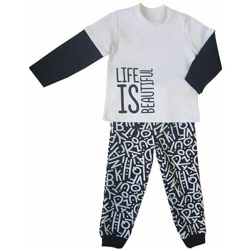 Купить Комплект одежды Папитто размер 80, черный/белый, Комплекты