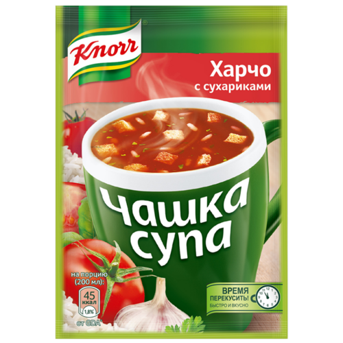 Knorr Чашка супа Харчо с сухариками, 14 г knorr чашка супа куриный суп с лапшой 13 г