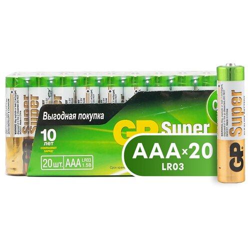 Фото - Батарейка GP Super Alkaline AAA, 20 шт. super