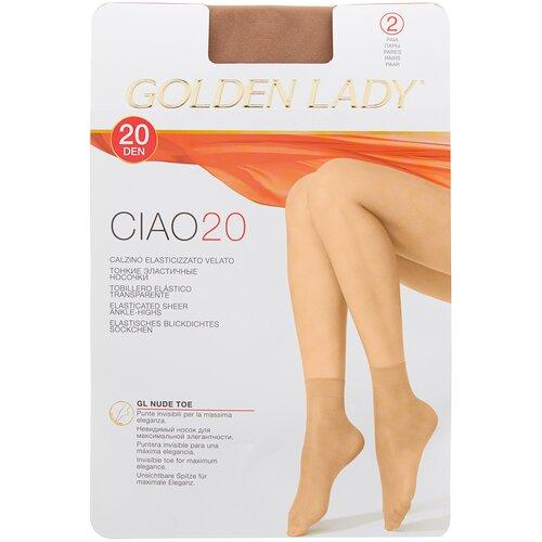 Капроновые носки Golden Lady Ciao 20 Den, 2 пары, размер 0 (one size), melon