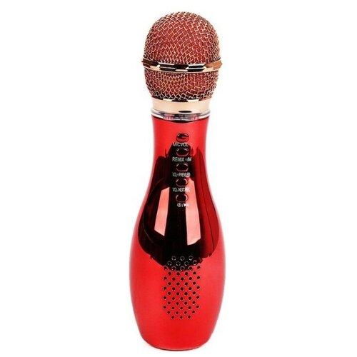 Беспроводной караоке-микрофон Q007 (красный)